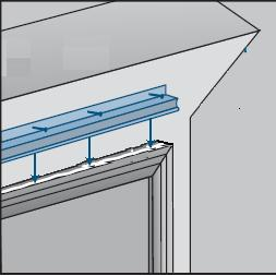Step 6. Installing Drip cap: - Cut galvanized drip cap ¼ longer than width of window. - Apply ¼ bead of silicone to top of the exterior trim of the window and the wall.