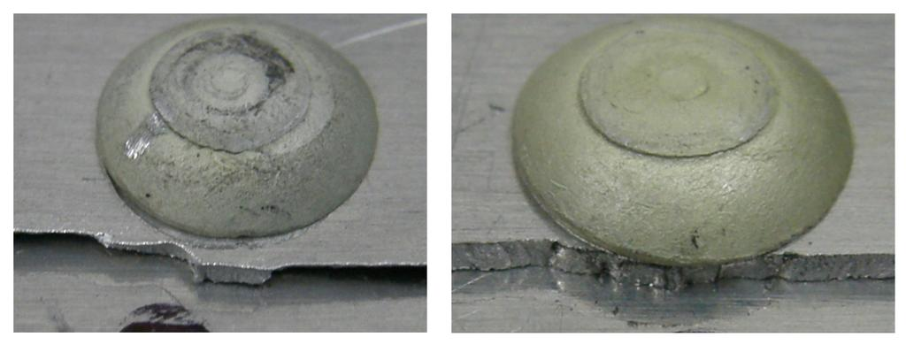 occur during the rivet installation in thin sheets due to their low stiffness. Note that the driven head diameter is smaller than the manufactured head diameter (about 2d). Figure 7.
