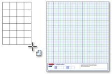 The Graph paper tool lets you draw a grid to simulate