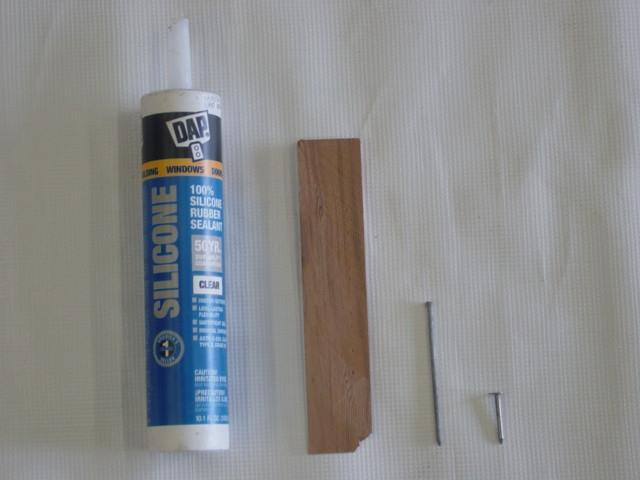 Hammer Tacker (not pictured) F A B D C A. Caulking C.