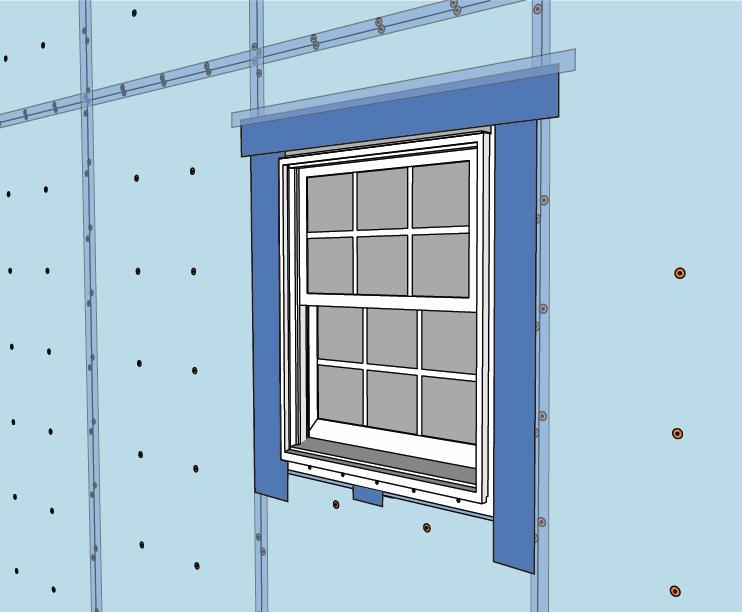 If the window is a slider, make sure the reveal matches when the window is almost closed. 8.