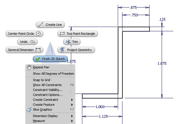 Figure 5.15 Profile with Dimension Showing * World Class CAD Challenge 61-09 * - Close this drawing file. Create a New file and draw the profile of eight lines.