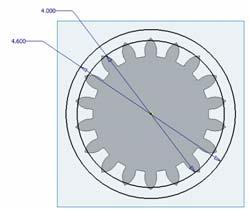 Example 3 Spur Gear Con t Create a new sketch on the visible work