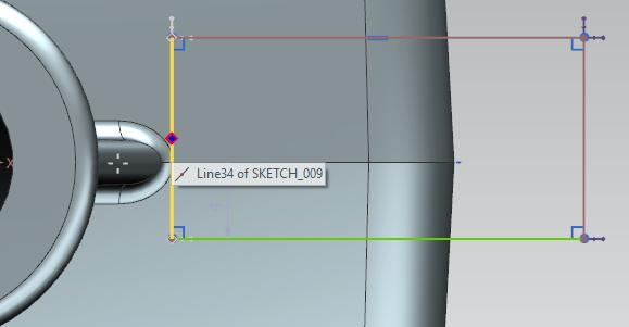Click on the More button and select Geometric Constraints in the Sketch Constraints field. In the dialog box, select Point On Curve as constraint.