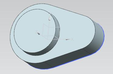 Impose for the left arc a radius of 14 mm and for the right arc a radius of 8 mm.