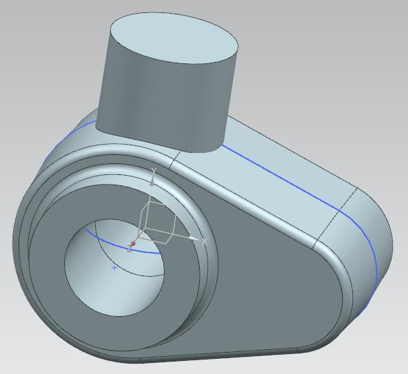 Using a constraint, impose to the circle a diameter of 15 mm.