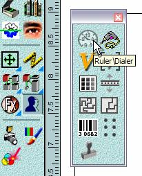 7.3 Designing the Ruler GravoStyle5 has a powerful tool that lets us design scales and rulers. It s located in the Special Tools fly-out toolbar (Figure 7-5).