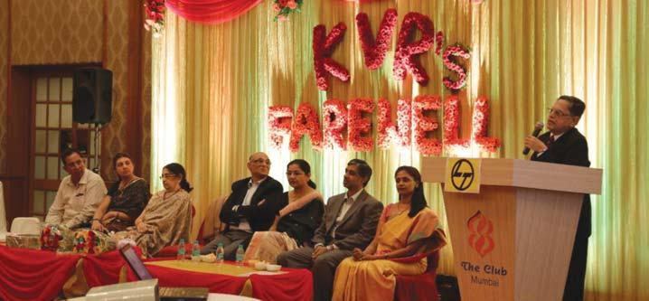 Mumbai Bids Adieu to KVR On April 25, in a function of mixed emotions, the employees of the Mumbai Cluster bid farewell to Mr. K.V. Rangaswami (KVR) and Mrs.