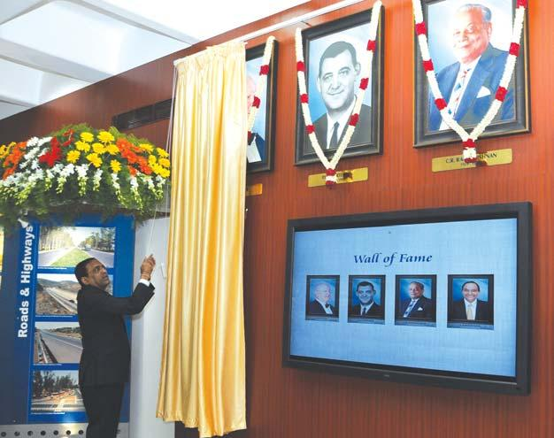 Four Stalwarts Honoured on a Wall of Fame at the HHL Centre Four former stalwarts Mr. John Hover, Mr. P.H. Mortensen, Mr. C.R. Ramakrishnan and Dr. A.