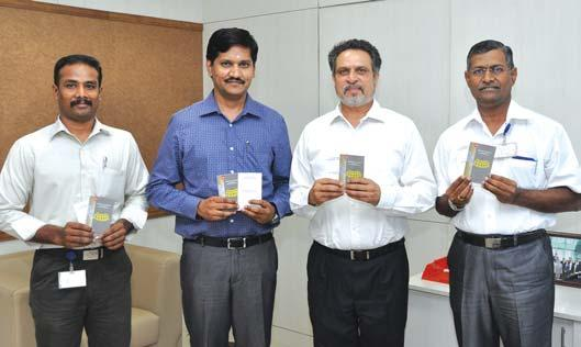 Quality Capsule a pocket booklet on construction activity was released by Mr. M.V. Satish (MVS), Senior Vice President and Head Buildings & Factories IC on June 16, 2014 in the presence of Mr. V. Ramesh, Head, IT&IS BU B&F IC and Mr.