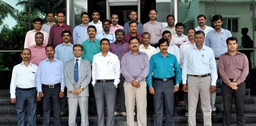Participants of Leadership and Motivation programme held at Chennai during May 27-28, 2014 Workshop on Working Capital and Cash Flow & JCR during March 24-25, 2014 at Kolkata Construction Safety