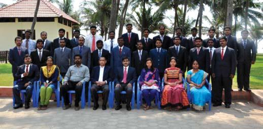 Corporate Centre Participants of the Executive Development Programme held at Chennai during April, 2014 inaugurated by Mr. P. Niranjana Participants of the In-house Training Programme EPS held at Kolkata during April 17-18, 2014, inaugurated by Mr A.