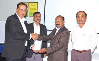 , Manager- Administration, BPPRP Project Site receives his award