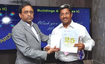 Ramakrishnan, Cluster Project Manager (CB&A), Delhi receives his