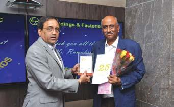 Rakesh Kumar Sharma, Cluster Project Manager Lucknow, receives his