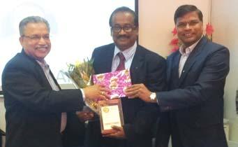 Srinivasan V, Cluster Quality Manager, PTD-Mumbai Cluster office, receives his