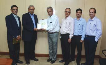 Gupta, Project Manager (EI&C), RIL-J3 Project-Jamnagar, receives his award from Mr.