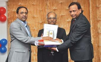 Cluster, receives his award from Mr. S.N. Subrahmanyan Mr.