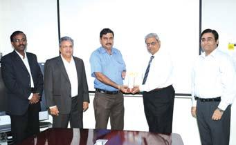 , Thoothukudi CMC Package I Site, Chennai receives his award from Mr. N.
