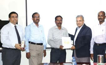 , Project Manager, BPPRP Project Site (Sec.-A) receives his award from Mr. D.K.