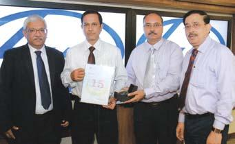 Package-Electrics-IOCL, receives his award from Mr.