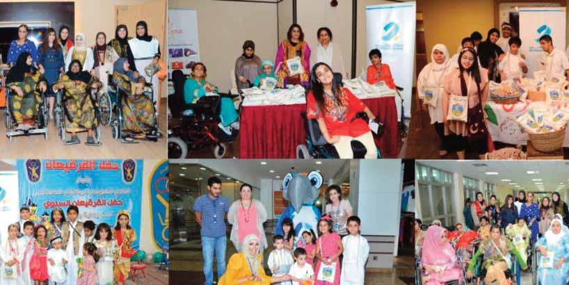 Burgan Bank also celebrated the joyful mood of Girgian through a fun filled activities with the participation of the Kuwait Handicapped Sports Club, the Kuwaiti Society for Guardians of the Disabled,
