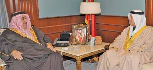 Monday, January 15, 2018 13 d bin Ibrahim Al-Mulla received the outgoing Pakistani Ambassador to Bahrain, Javed Malik, in the pres- Mulla - stressed the parliamentary support for efforts to enhance