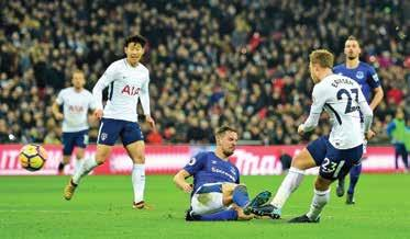 Alex Iwobi tested home keeper Asmir Begovic before Bournemouth midfielder Dan Gosling was booked after going to ground under a Shkodran Mustafi challenge when the Arsenal player appeared to have