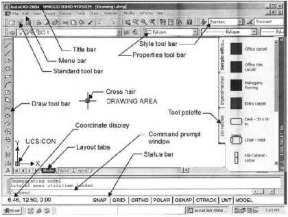 The Work column includes options for beginning a new drawing or opening a saved file.