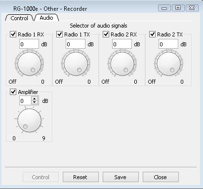 1. RG-1000e Customer Programming Software (RG-1000e CPS) 41 To record audio from the Radio Port, select the Receiver 1 and Microphone 1 check boxes only.