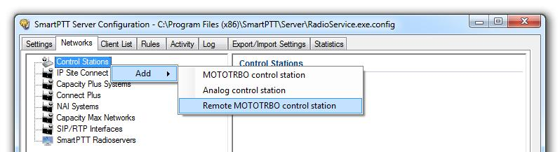 3. SmartPTT Radioserver settings 76 3.5 Interaction with non-mototrbo remote control stations (using SmartPTT Call Emulation), for SmartPTT 9.