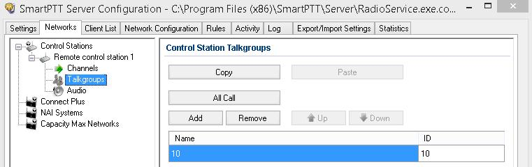 3. SmartPTT Radioserver settings 80 The Control Station