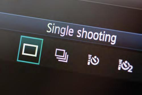 About your camera suggested settings Multi/High Speed Continuously shoots while the shutter is pressed Timer Delays the