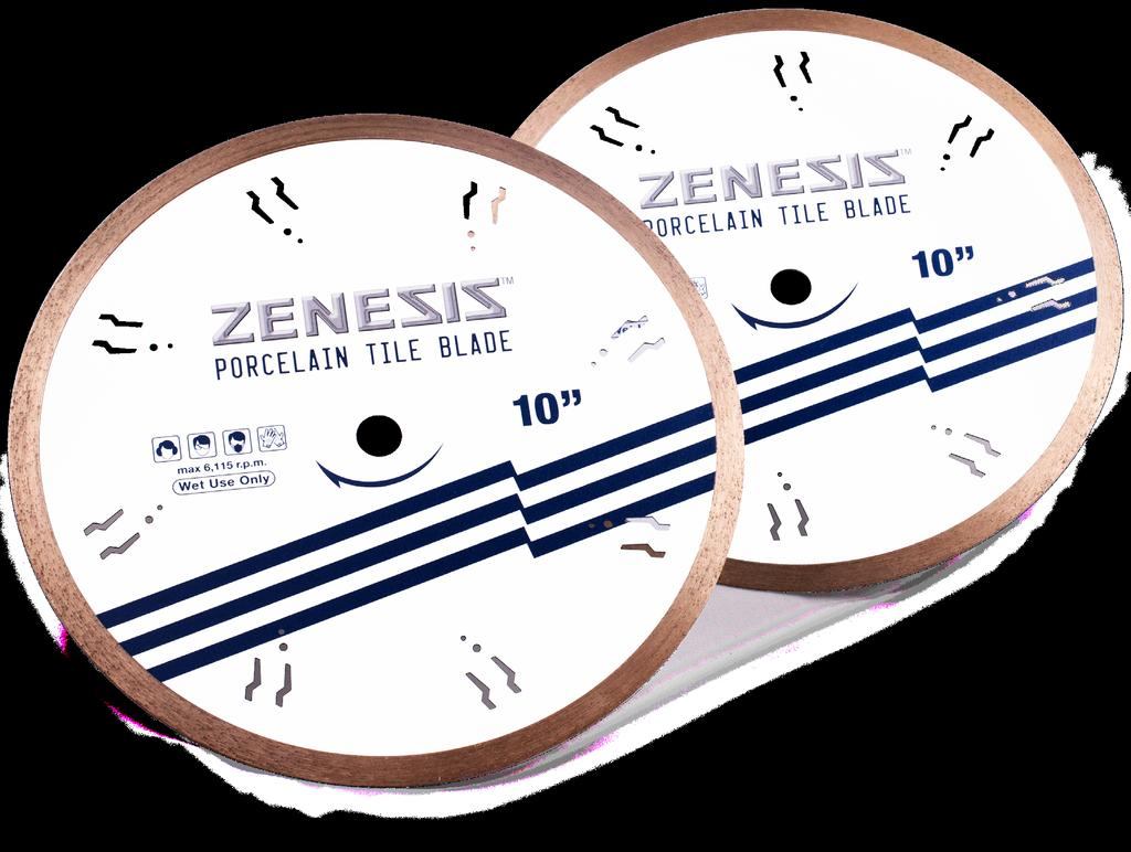 13 ZENESIS Porcelain ZENESIS Porcelain Tile Blade is designed for professionals looking for fast, smooth and chip free cuts on