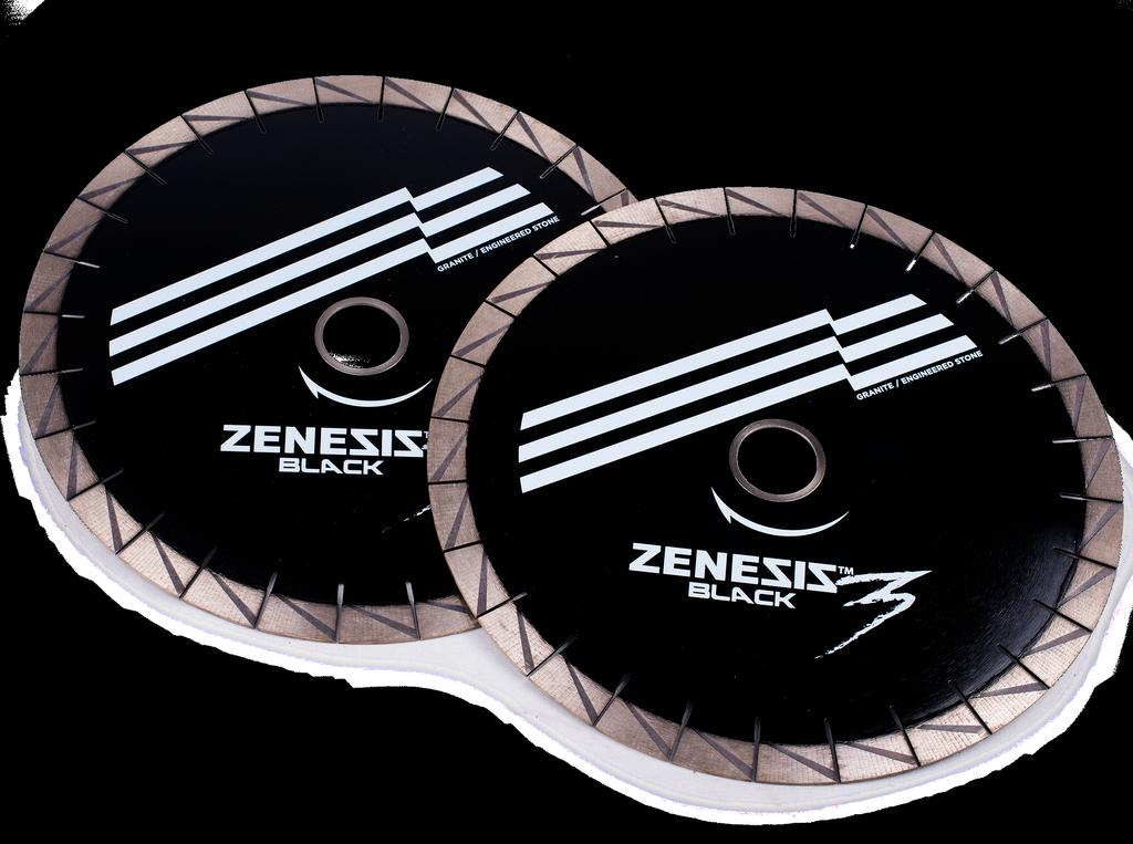 Products - Cutting 4 ZENESIS Black 3 Bridge Saw Blades 25mm The revolutionary ZENESIS technology distributes the diamond grit into patterned columns, gradually increasing and focusing the