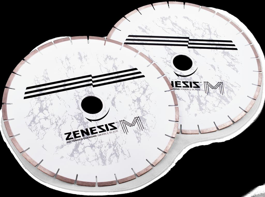 9 ZENESIS Marble Saw Blades 10mm ZENESIS now offers its exclusive patterned technology in a bridge saw blade designed specifically to cut marble and other soft stone products.
