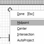 In order to locate the midpoint of the bottom edge, you need to project the bottom edge. 9.