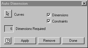 Sketch Tools Auto Dimension Auto Dimension tells the user how many dimensions are required to fully define a sketch and applies constraints as needed.