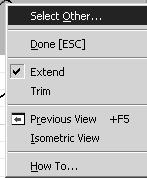Sketch Tools Modify Tools Our next section contains tools used to modify sketches: Extend, Trim, Move, and Rotate. Extend The extend tool works differently than in AutoCAD.