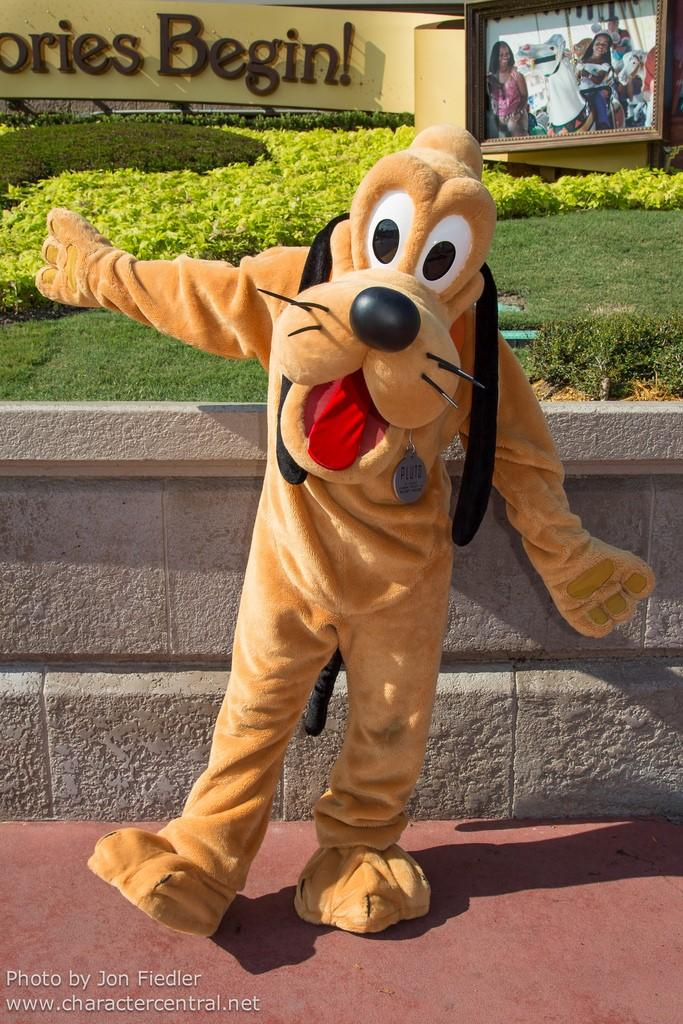 In this case, let s use the original image we started working and this additional image of Pluto in Disney World. Before you start working it s important to check the lighting of each photo.