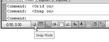 1-10 AutoCAD LT 2012 Tutorial The GRID option creates a pattern of dots that extends over an area on the screen. Using the grid is similar to placing a sheet of grid paper under a drawing.