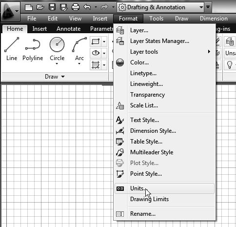 In the Drawing Units dialog box, set the Length Type to Decimal.