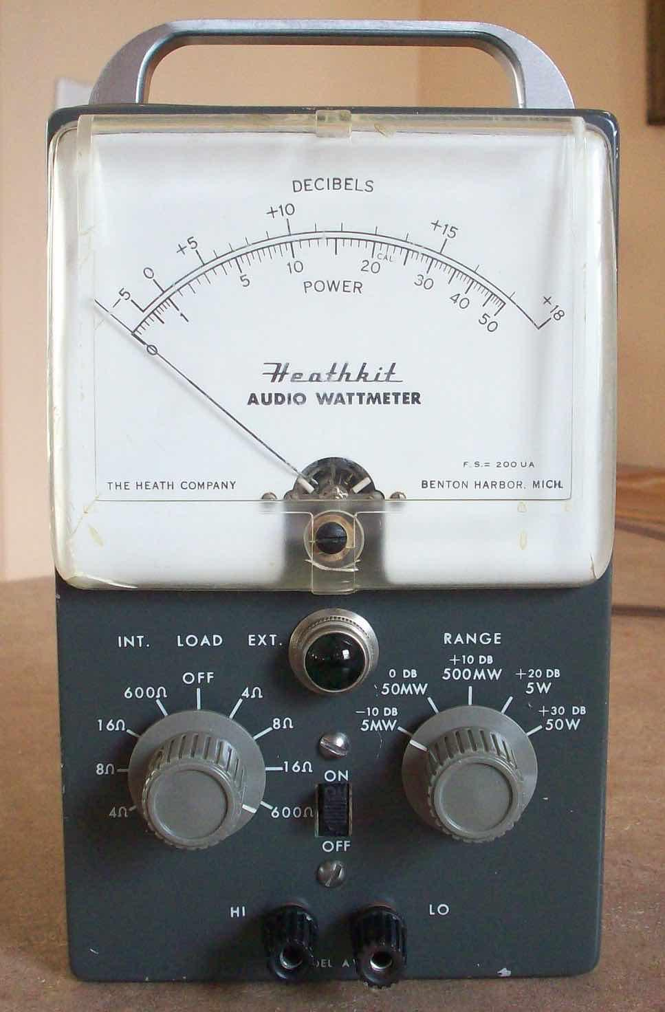 Heathkit of the Month #88: by Bob Eckweiler, AF6C ELECTRONIC TEST EQUIPMENT Heathkit AW-1 Audio Wattmeter. Introduction: In September of 1953 Heathkit introduced the AW-1 Audio Wattmeter.