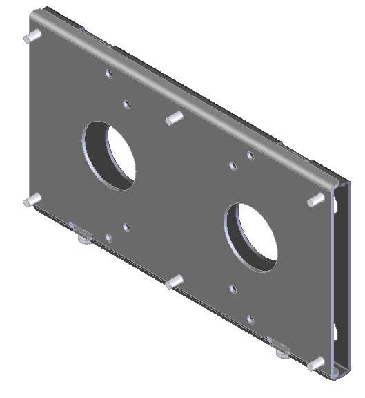 "INSTALLATION INSTRUCTIONS Flat Panel Static Wall Mount Model: GSM-111 The GSM-111 static wall mount fits most 23"" to 30"" displays."