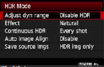 The HDR mode will work differently depending on your camera, but generally