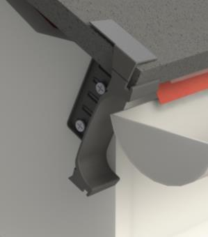 Securely fix the eaves closure to the wall or bargeboard using 2 appropriate fixings