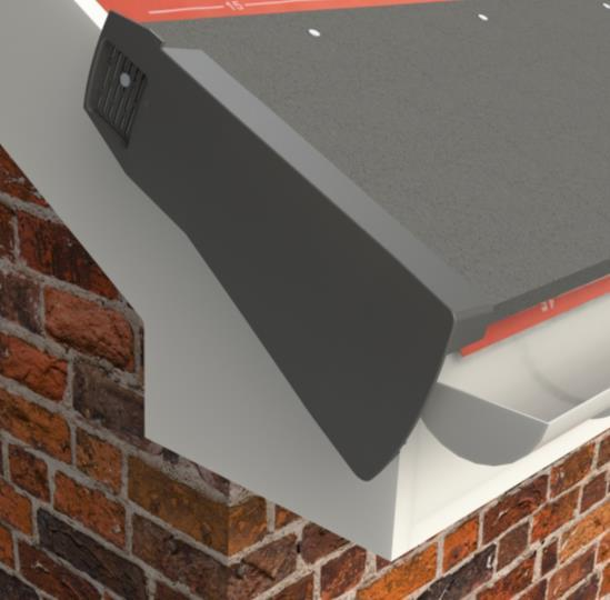 3) Locate the first verge unit over the eaves closure and click into position.