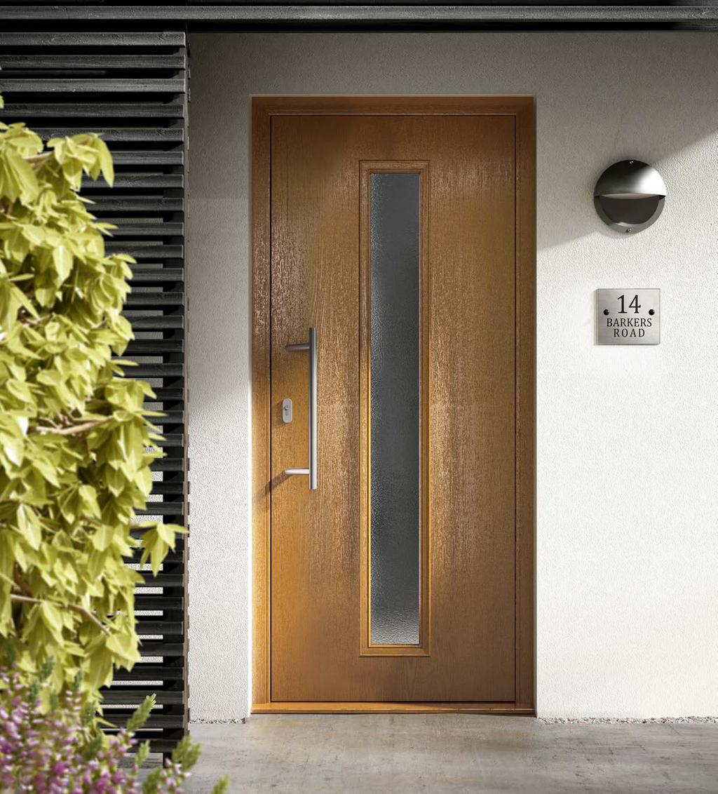 D-043, D-022, D-026 Our contemporary door range offers dramatically positioned glazing panes for a