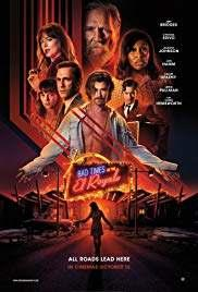 1/1 BAD TIMES AT THE EL ROYALE MYSTERY/THRILLER $19 MILL BO 2158 SCREENS R 141 MINUTES DVD/COMBO DIGITAL COPY WITH THE COMBO 28 DAYS BEFORE REDBOX Jeff Bridges (CRAZY HEART, THE BIG LEBOWSKI, THE