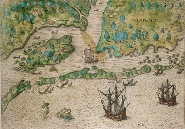 1585-86 COLONY FINANCING By April 1585, Raleigh had raised L10,000 Seven ships carrying